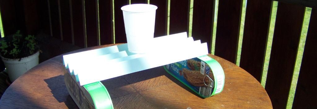Experiment der Woche: Papier kann sehr stark sein!