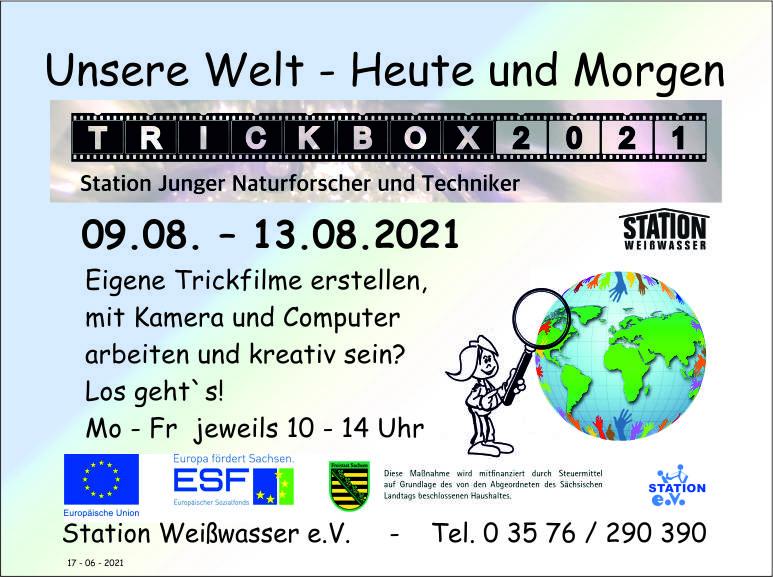 """""""Weltentdecker – Tage – TrickboX 2021"""""""